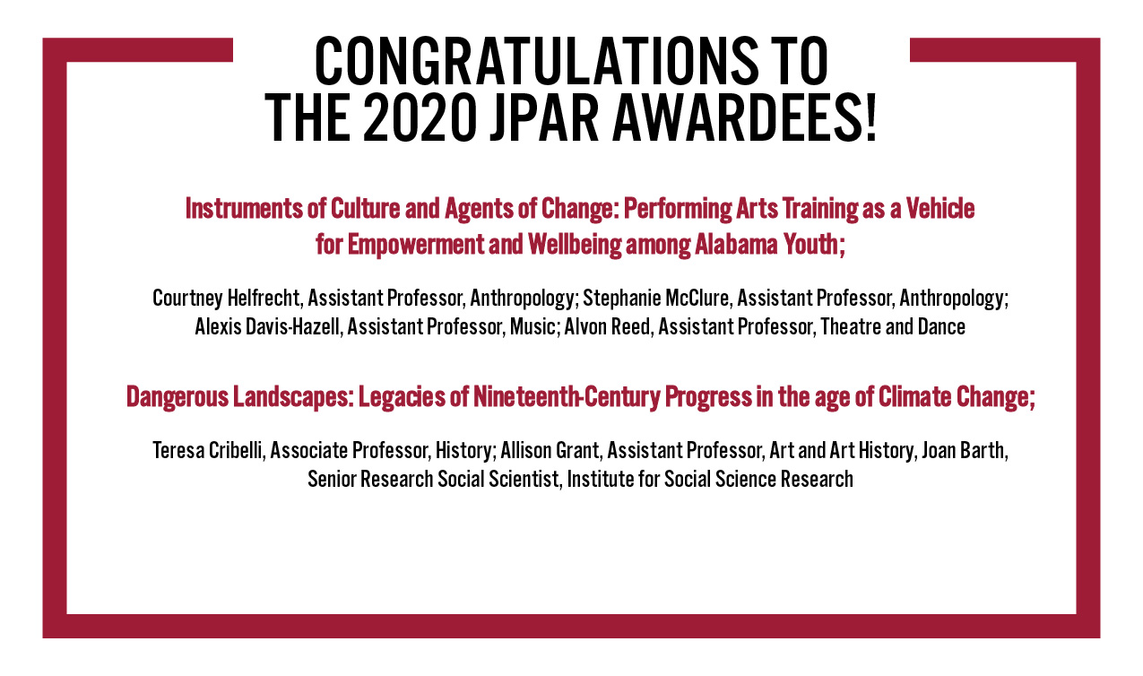 Joint Pilot for Arts Research Awardees